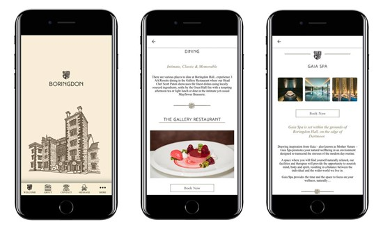 Boringdon Hall app